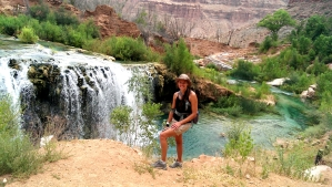 Little Navajo Falls: 1.25 miles from village